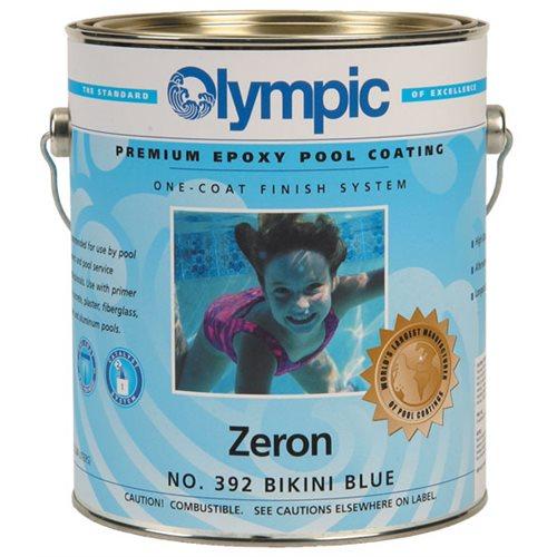 Olympic zeron epoxy gallon bikini blue for Epoxy pool paint