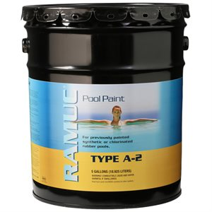Ramuc Type A-2 Rubber Pool Paint FIVE GALLON, Monument Gray