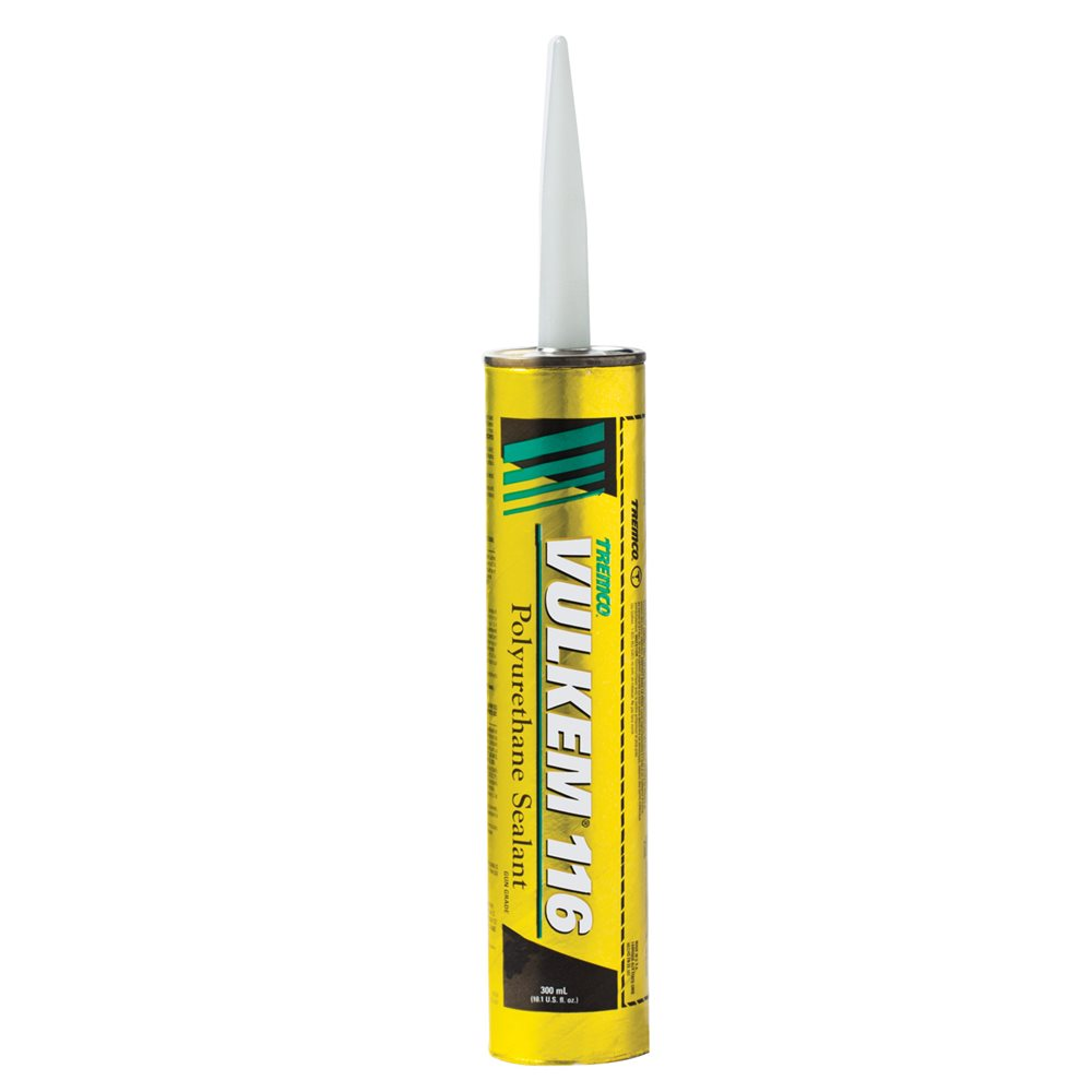Vulkem 116 Polyurethane Sealant, 10 1 oz Cartridge, White