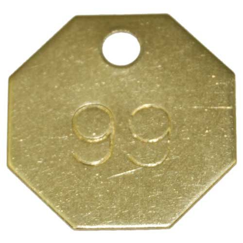 Checking Tags - Brass Style H, Numbered, 301-400