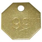 Checking Tags - Brass Style H, Numbered, 201-300