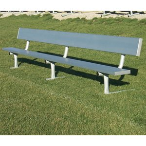 Aluminum Bench with Backrest, Outdoor, 12 ft.