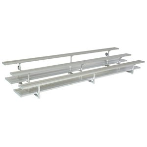Preferred Tip N' Roll Bleachers, 15 ft., 2 Rows (Seats 20)