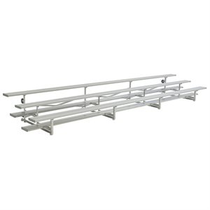Standard Tip N' Roll Bleachers, 21 ft., 3 Rows (Seats 42)