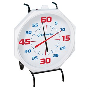 Competitor 31 inch Pace Clock, Battery Operated, White Face