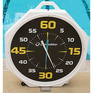 Competitor 37 inch Pace Clock, Battery Operated, Black Face