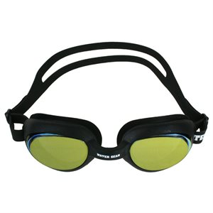 Water Gear Metallic Turbo Anti-Fog Goggle, Gold