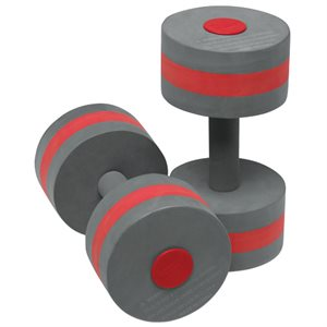 Speedo Aqua Fitness Dumbbells, Charcoal / Red