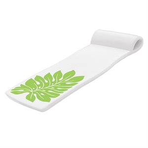 Sunsation Pool Float, White with Green Leaf