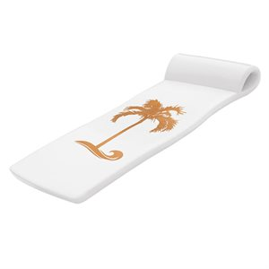 Sunsation Pool Float, White with Bronze Palm