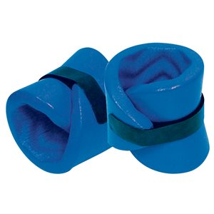 Super Soft Ankle Wraps, Pair, Blue