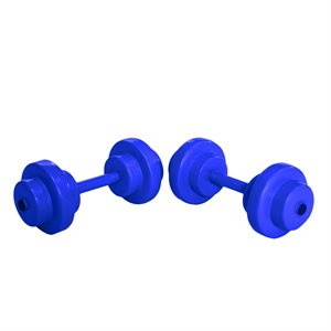 Super Soft Bar Bells, Pair, Blue