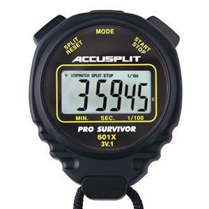 Accusplit Pro Survivor Stopwatch, Black