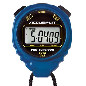 Accusplit Pro Survivor Stopwatch, Blue