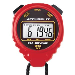 Accusplit Pro Survivor Stopwatch, Red