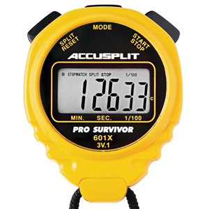 Accusplit Pro Survivor Stopwatch, Yellow