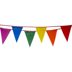 "Standard 12"" x 18"" Pennants, 100 ft., Multicolored"