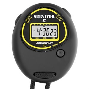 Accusplit Survivor II Stopwatch, Black