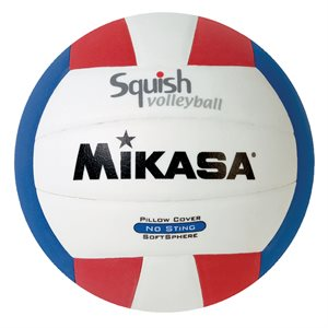 Mikasa Squish Series Water Volleyball, Red / White / Blue