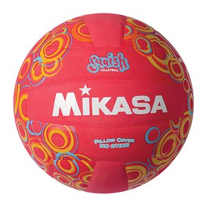 Mikasa Squish Series Water Volleyball, Swirls / Red
