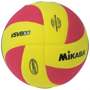 Mikasa Squish Series Water Volleyball, Yellow / Red