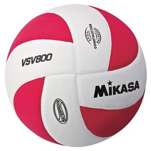 Mikasa Squish Series Water Volleyball, White / Red