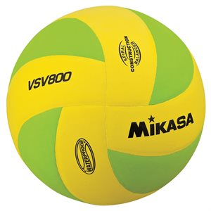 Mikasa Squish Series Water Volleyball, Yellow / Green