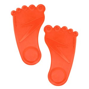 Speedo Pool Prints Feet, Pair, Orange