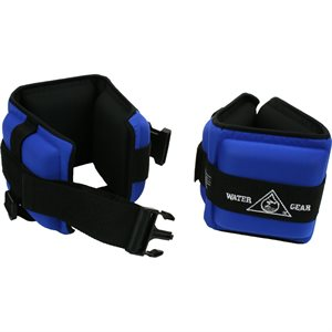 Professional Aqua Cuffs, Pair, Blue (Medium Resistance)
