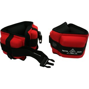 Professional Aqua Cuffs, Pair, Red (Heavy Resistance)