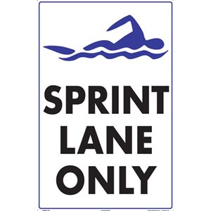"Sign - Sprint Lane Only 12"" x 18"""