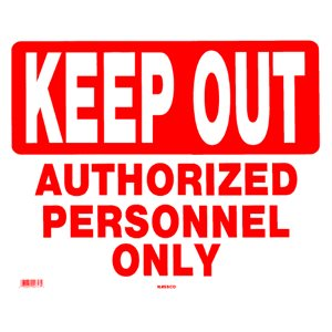"Sign - Keep Out 15"" x 19"""