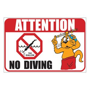 "Sign - No Diving 12"" x 18"""