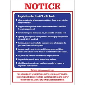 "Sign - Notice: Regulations... 18"" x 24"""