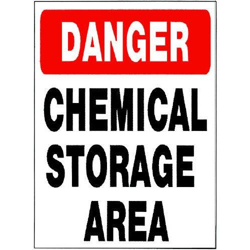 Sign Danger Chemical Storage 18 Quot X 24 Quot