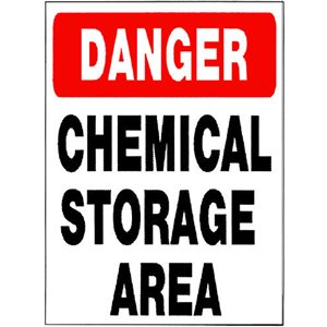 "Sign - Danger Chemical Storage 18"" x 24"""