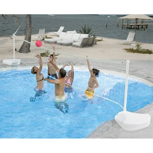 WaterVolly Portable Volleyball Set with Aluminum Posts