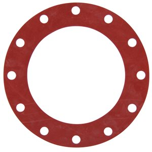Valve / Flange Gasket, Red Rubber, 10""