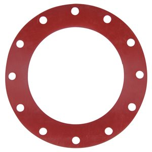 Valve / Flange Gasket, Red Rubber, 12""