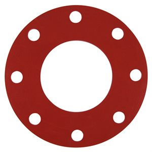 Valve / Flange Gasket, Red Rubber, 4""