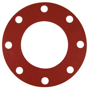 Valve / Flange Gasket, Red Rubber, 5""