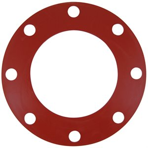 Valve / Flange Gasket, Red Rubber, 6""