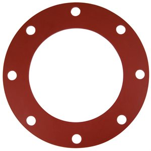 Valve / Flange Gasket, Red Rubber, 8""