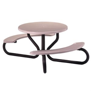 Texacraft Round Picnic Table - Wheelchair Accessible