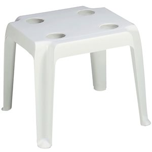 Oasis Cocktail Table, White, Case of 14