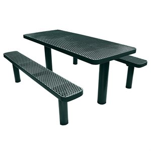 Premier Polysteel 6 ft Rectangular Table, Multi Pedestal, Direct Bury