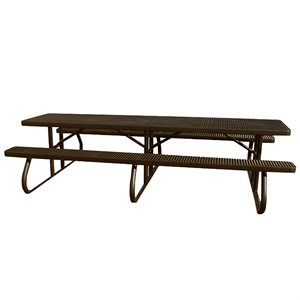 Premier Polysteel 10 ft Rectangular Table, Free Standing, without Umbrella Hole