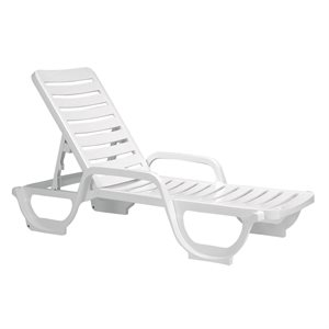 Bahia Chaise Lounge, White, Case of 18