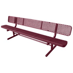 Premier Polysteel Champion Bench, 8 ft, with Backrest
