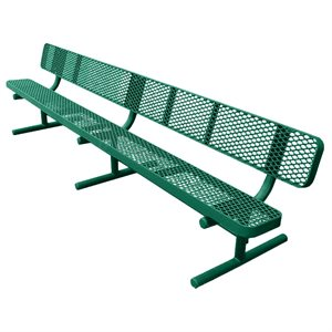 Premier Polysteel Champion Bench, 10 ft, with Backrest
